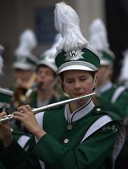 Flautist or Flutist (swong95765) Tags: woman female lady flautist flutist uniform highschool band bokeh flute