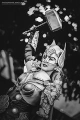 DSCF4181 - EDIT (Cat&Crown) Tags: mcm expo comicon costume cosplay marvel dc london ghostbusters power rangers rita repulsa avatar last airbender us joel ellie characters final fantasy xv zelda beaurty beast disney thor dorian