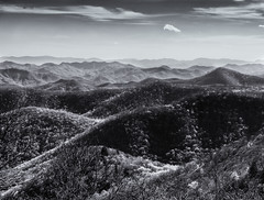 Blue Ridge Mountains (Tim Ravenscroft) Tags: blueridgemountains blueridgeparkway landscape blackandwhite blackwhite monchrome mountains hasselblad hasselbladx1d x1d