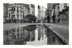 Avenues Ipiranga x São João (Marcos Jerlich) Tags: avenues downtown reflections city saopaulo brazil buildings historic perspective people architecture icons skyscraper sky cielo contrast urban street town bw blackandwhite bnw monochrome blancoynegro mono canon canont5i canon700d efs1855mm 7dwf marcosjerlich