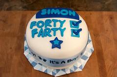 40th Birthday Cake (devoutly_evasive) Tags: 40th fortieth birthday cake fondant forty farty boy blue