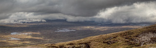 Rannoch Moor from 705 metres above sea level (2313 ft); looking north-east