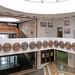 PRISTINA, KOSOVO - JUNE 2016: Unique National Library of the Republic of Kosovo in Pristina designed by Croatian architect Andrija Mutnjakovic, member of the Croatian Academy of Science and Arts.
