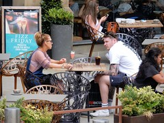 Manchester Al Fresco (deltrems) Tags: manchester city centre people men women smoker smoking cigarette restaurant cafe outdoor alfresco tables diners