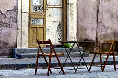 """Coffe Time in Catania"" © 17. June 2017 by Silva Wischeropp aka Silva Capitana (SILVA CAPITANA) Tags: coffetime coffe table street catania sicily italy isleofcatania southofitaly italiancharm urban facade travel streetlife urbanlandscape chairs twochairs house livinghouse oldwall woodentable streetcafe cafe graffity door woodendoor brown beige grey yellow woodenchair sicilianflair oldstreet city town citycenter siciliantown cityscape cityview cityshape documentation travelphotography photo livingstyle coffebreak coffeculture strreetculture flickrsicilia ngc urbex urbanexploration"