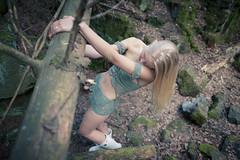 Odds of even (clogz) Tags: susanna blonde crocheted bikini body hair legs cave bunker nature form