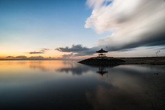 Serenity (Thanwan Singh) Tags: sanur indonesia bali pantaisanur pantaikarang morning dawn light sunrise water beach sea wind cloud orange yellow purple serenity peace skyblue blue horizon hut relaxation sky outdoor sunset dusk serene ocean