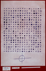 340 character Zodiac cipher, November 9, 1969, never solved.  (Z340) (Studio d'Xavier) Tags: werehere code zodiackiller zodiac cipher cryptology serialkiller z340 original benicia vallejo lakeberryessa sanfrancisco cryptogram 340cryptogram fjktopmaaq arthurleighallen georgerusselltucker louiemyers richardgaikowski jacktarrance unsolved ebeorietemethhpiti