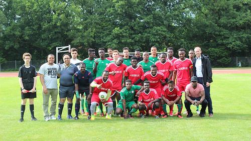 Integration e.V. richtet jedes Jahr den Afrika-Cup in Oldenburg aus - ich durfte den Siegerpokal überreichen!
