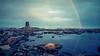 03.08.2014 20.29 (limerot) Tags: nordvågen nordvaagen magerøya mageroya summer rainbow sommer regnbue blå blue hav ocean fyr fyrlykt nes ness lighthouse