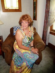 Is This Really A Milwaukee Housewife? (Laurette Victoria) Tags: maxi dress auburn laurette woman necklace