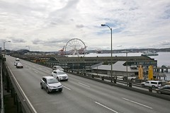 Seattle Waterfront & Alaskan Way Viduct 2017 WA_0O2A0235 (RSPT49) Tags: seattle alaskanwayviaduct waterfront bigwheel aquarium washingtonstateferry harborisland