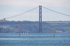 Sailing (Infomastern) Tags: lisboa lisbon lissabon portugal riotejo river tagus tagusriver boat bridge bro flod vatten water