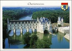 postcard - Chateau de Chenonceau 1 (Jassy-50) Tags: postcard chenonceaux loirevalley france chateaudechenonceau chateau chenonceau loireriver loire river unescoworldheritagesite unescoworldheritage unesco worldheritagesite worldheritage whs aerial