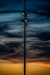 Symétrie (omj11) Tags: contrejour coucherdesoleil paysage symetrie skate lampadaire