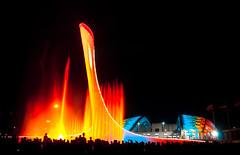 Olympic square. Sochi (Igor Komissarov) Tags: fountain water sochi nikon night colors light dark olympic fisht abigfave