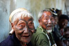 KONYAK TRIBE (BoazImages) Tags: konyaktribe konyak men headhunter headhunters nagaland northeastfrontier india southeastasia culture tribe tribal tattoo portrait boazimages