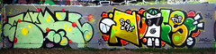 Graffiti in Graz 2017 (kami68k -all over-) Tags: graz 2017 graffiti legal halloffame bunt disko mura stax nufs hsp tmp