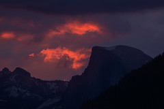 Half Dome Sunrise (tompost) Tags: halfdome yosemite landscape sunrise color tunnelview spring firstlight storm clearing