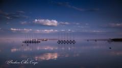 a quiet moment at Duxbury (Barbara Ellen Crispi) Tags: duxburyyachtclub quiet moment by ocean duxbury sunriseinduxbury m sunrise