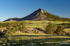 Eagle Peak (kevin-palmer) Tags: laramiemountains esterbrook wyoming june summer sunny blue sky tamron2470mmf28 medicinebownationalforest pine trees evening eaglepeak circularpolarizer nikond750