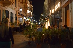 Cityscape - Lipscani , Bucharest (fdlscrmn) Tags: bucharest lipscani people downtown lights urbanlandscape night 7dwf restaurant cityscape sign saariysqualitypictures