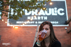 Sarah Hearth (_mndgmes) Tags: beer ipa pale ale local brewery bar bars scene hydraulic hearth female drinking candid lowlight outdoors canon5d 50mm portrait portraits portraiture candidmoments buffalo ny newyork