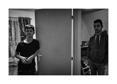 Two boys at their room (Jan Dobrovsky) Tags: portrait childrenshome leicaq monochrome indoor krásnálípa people contrast blackandwhite northernbohemia grain evening boys document