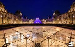 Pyramide inversée (A.G. Photographe) Tags: anto antoxiii xiii ag agphotographe paris parisien parisian france french français europe capitale d810 nikon nikkor 1424 louvre heurebleue pyramideinversée pyramide