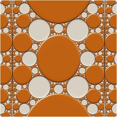 Gold Spot (Ross Hilbert) Tags: fractalsciencekit fractalgenerator fractalsoftware fractalapplication fractalart algorithmicart generativeart computerart mathart digitalart abstractart fractal chaos art kleinian apolloniangasket circleinversion tiling orbittrap