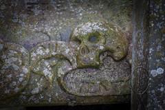 Broken Memorial and Shattered Memories North Berwick Parish Kirkyard 1 of 2 (PHH Sykes) Tags: north berwick parish kirkyard scotland broken grave skull angel mementomori shattered
