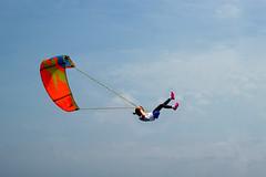 Giocando tra le nuvole (meghimeg) Tags: 2017 genova bimba girl altalena kite cielo sky nuvole cloud volo fly sogno dream swing