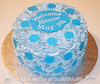 Rosettes and Polka Dots Baby Shower Cake