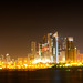 Night view of Kuwait City Skyline