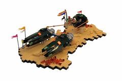 The \/erdanti (NS LEGO Designs) Tags: nslegodesigns lego moc creation build podracer starwars landscape display crowd scifi vehicle spaceship space desert planet tatooine