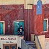 Magic Sunset Pool Bar (Lucille-bs) Tags: europe grèce cyclades santorin 500x500 escalier couleur architecture homme porte magicsunset poolbar fira thira