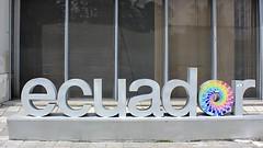 Ecuador ama la vida (oxfordblues84) Tags: ecuador quito quitoecuador city building signage letters windows window curtainwall corporaciónfinancieranacional governmentbuilding