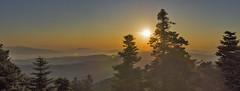 Parnitha sunrise panorama (jean valjean.) Tags: sunrise panorama parnitha natura2000 sky sun light outdoors nature trees