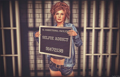 *I'm just a prisoner of love*❤ (Ⓐⓝⓖⓔⓛ (Angeleyes Roxley)) Tags: prison love bars jail sl secondlife female