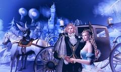 Fairy Tales – Cinderella (Luca Arturo Ferrarin) Tags: secondlife bajanorte beautiful couple love cinderella disney prince princess castle winter carriage horse