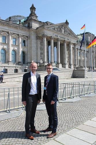 """In Berlin habe ich Erik Fisahn aus Rastede zum viertägigen Planspiel """"Jugend und Parlament"""" begrüßt."""
