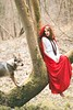 Each side. (Camille Chavaudra ~) Tags: red riding hood petit chaperon rouge cape loup chien tchékoslovaque tree forest outside outdoor nature light natural portrait amiens ayame camille chavaudra