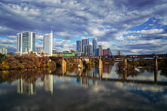 Afternoon delight (Jim Nix / Nomadic Pursuits) Tags: austin coloradoriver jimnix ladybirdlake lightroom luminar nomadicpursuits pflugerpedestrianbridge sony sonya7ii texas afternoon cityscape clouds colorful downtown fall railroad skyline winter
