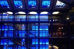 Science in the blue (tibonihoo) Tags: blue paris museum grande gallerie elephant people shadow silouettes