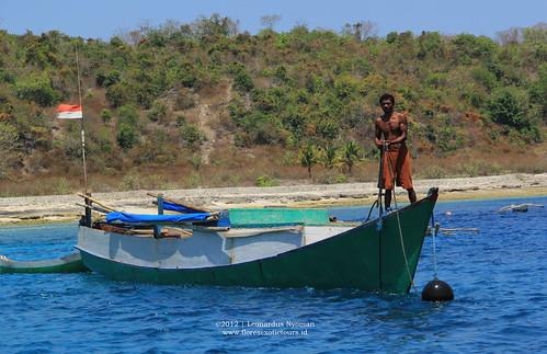 Fisherman in Alor island