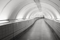 Fait Accompli (Douguerreotype) Tags: uk gb britain british england london city urban tube metro subway underground tunnel bw blackandwhite mono monochrome empty