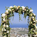 Elegant destination wedding at Kamini Villa, Santorini