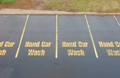 Reserved for Hand Car Wash (mikecogh) Tags: westlakes carparks reserved signs lines repetition