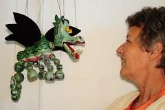 157 2017 my pet dragon and me (Margaret Stranks) Tags: 157365 365days 2017 pelhampuppet motherdragon marionette stringpuppet