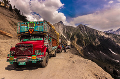 High Altitude Driving - Ladakh, India (Kartik Kumar S) Tags: ladakh leh kashmir transport lorries road mountains clouds food canon 600d tokina 1116mm